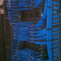 Berk-Tec Cat 6A on Leviton Patch Panels